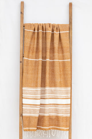Handwoven Bath Sheet, Bronze