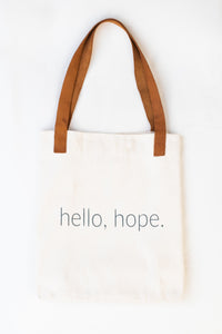 Hello Hope Canvas Tote