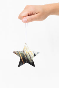 Cow Horn Star Ornament