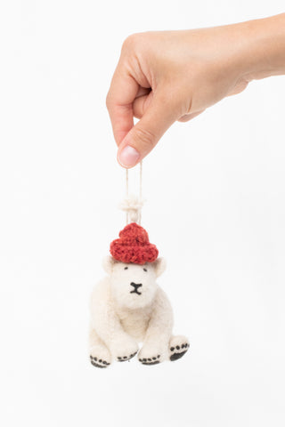 Baby Isimbi Polar Bear Ornament