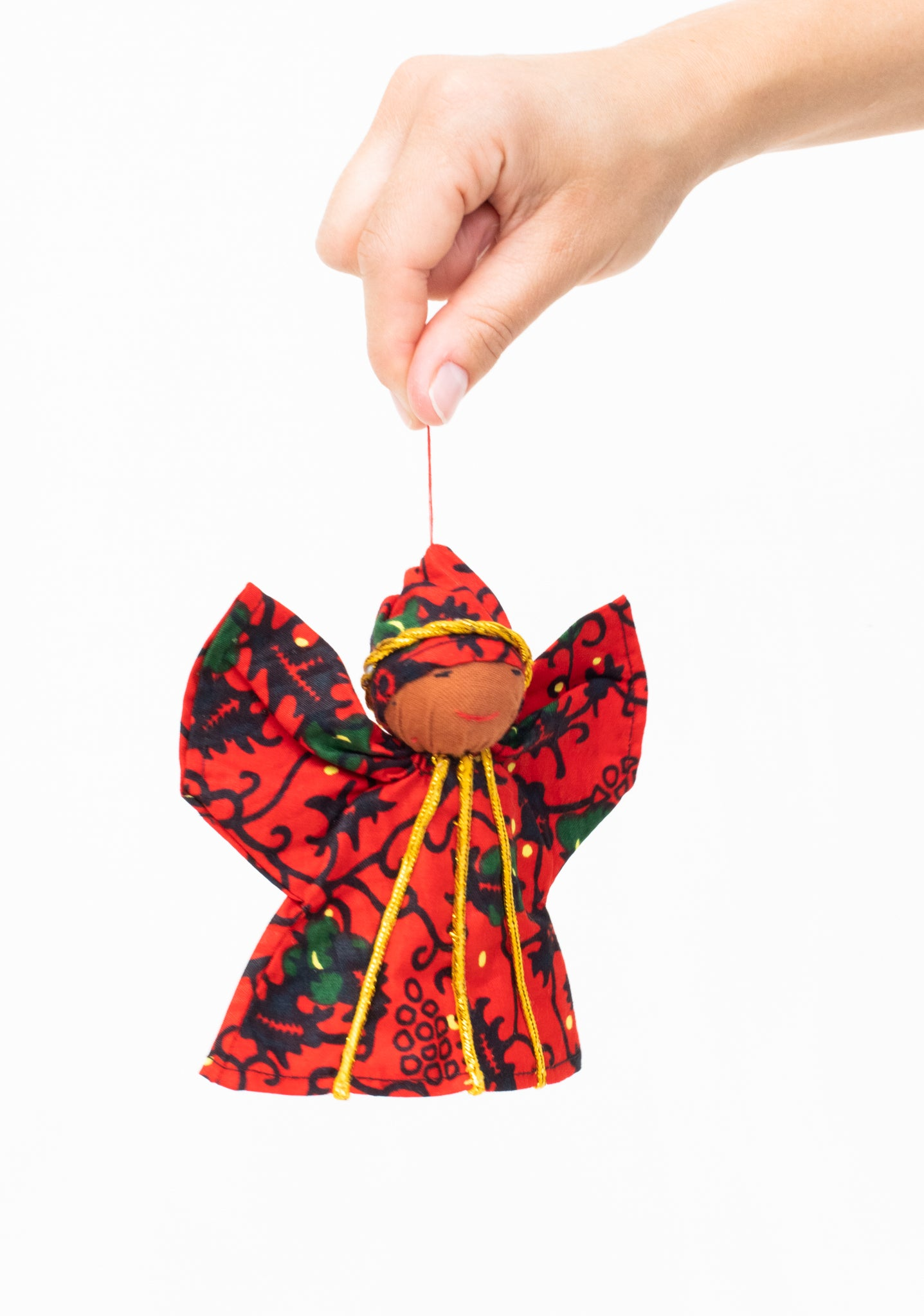 Kitenge Angel Ornament, Ruby