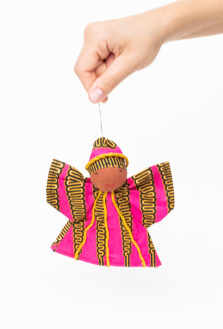 Kitenge Angel Ornament, Tourmaline