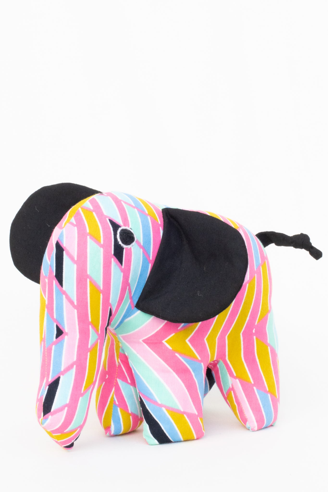 Plush Kitenge Elephant, Summer