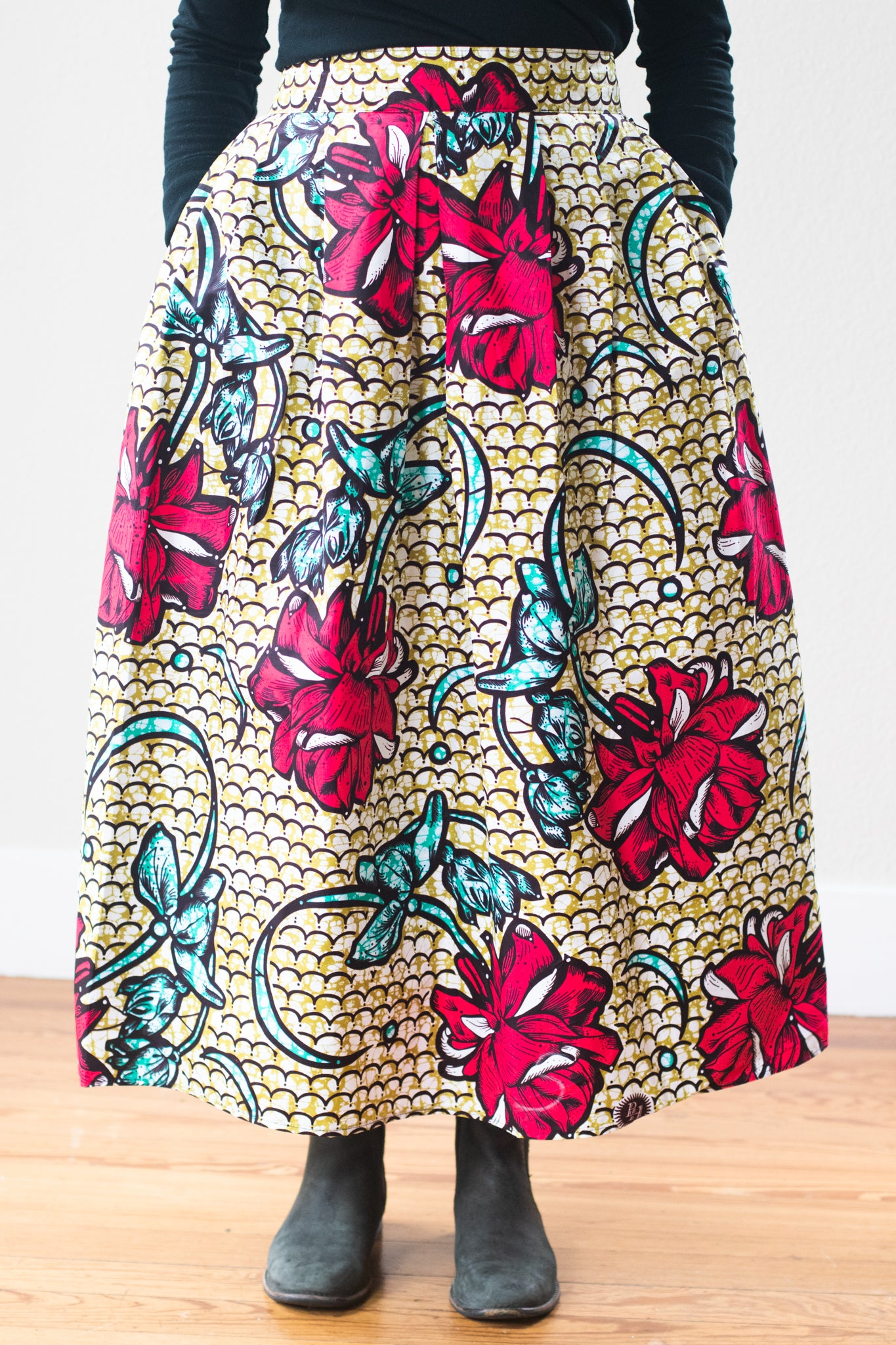 Mapenzi Skirt, River Flower