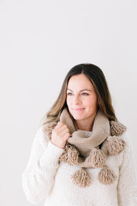 Chantal Tassel Cowl in Organic Merino