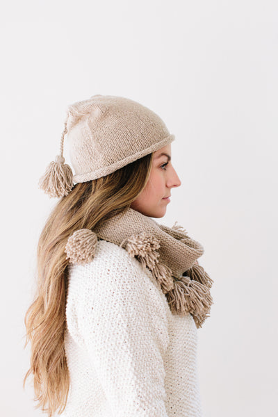 Chantal Tassel Hat in Organic Merino
