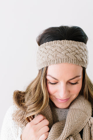 Josiane Cabled Headband in Organic Merino