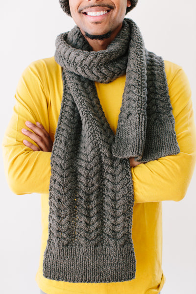 Christine Cable Scarf in Organic Merino