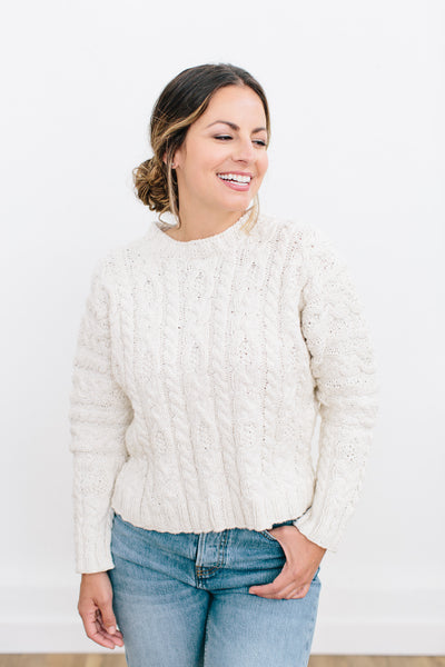 Clema Cable Sweater in Ethiopian Cotton