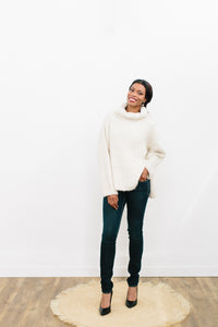 Saveline Sweater in Angora and Merino Blend
