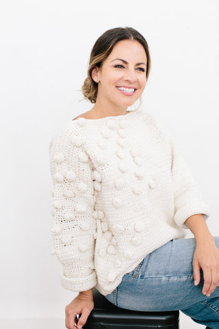 Mariana Bauble Sweater in Ethiopian Cotton