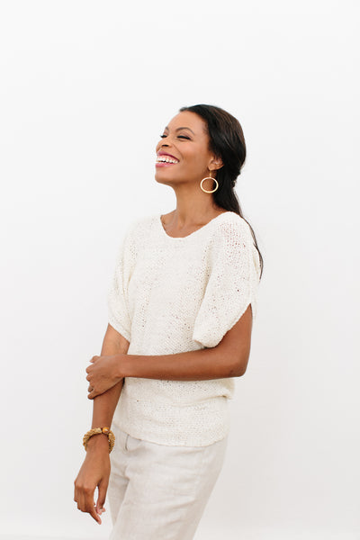 Aimeé Olive Sweater in Ethiopian Cotton