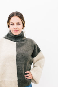 Catherine Color-Block Pullover in Organic Merino Wool