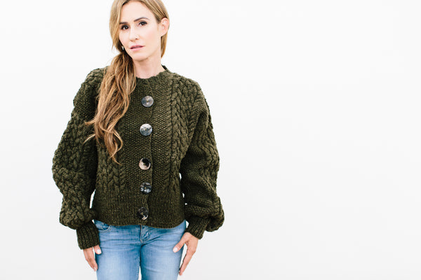 Victorie Cable Cardigan