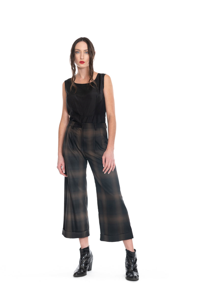 Megan Salmon Blur 7/8 Wide Leg Trouser