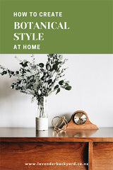 Botanical Living Style Decoration At Home