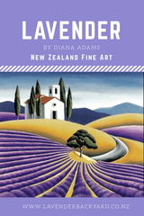 Lavender Art | Lavender Fields by Diana Adams