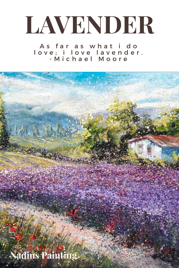 Lavender kiss in the air by Nadins Paintings. NZ Lavender farm collects lavender art. Click to find out more lavender art for your home decor ideas.