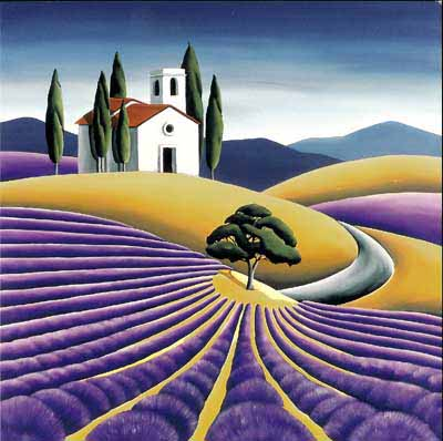 Lavender Field by Diana Adams, New Zealand Artist