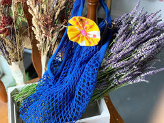 Handsewn Flower Mesh Bag by M.Jeng Design