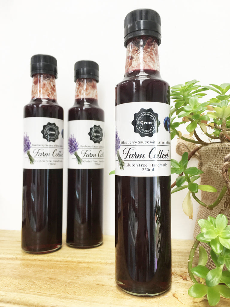 Blueberry Sauce with a hint of Lavender from NZ Blueberry and Lavender Farm.