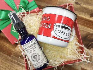 Merry Christmas! Coffee Lover Gift Box from NZ lavender farm, Lavender Backyard Garden