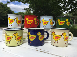 Regular Enamel Mug - Chicken