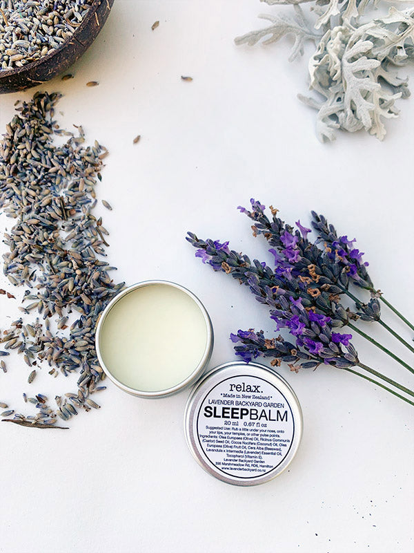 Lavender Sleep Balm - Sleep Well, Lavender Backyard Garden