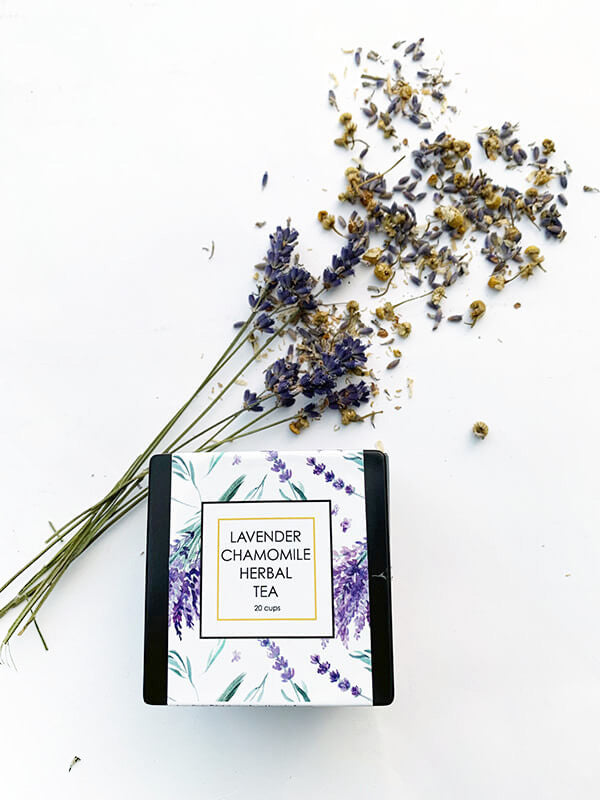 Lavender & Chamomile Herbal Tea - Loose Leaf Lavender Backyard Garden