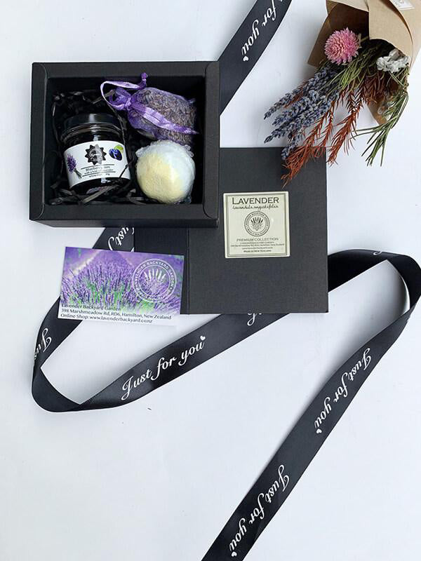 Lovely Gift Box for Secret Santa, Lavender Backyard Garden