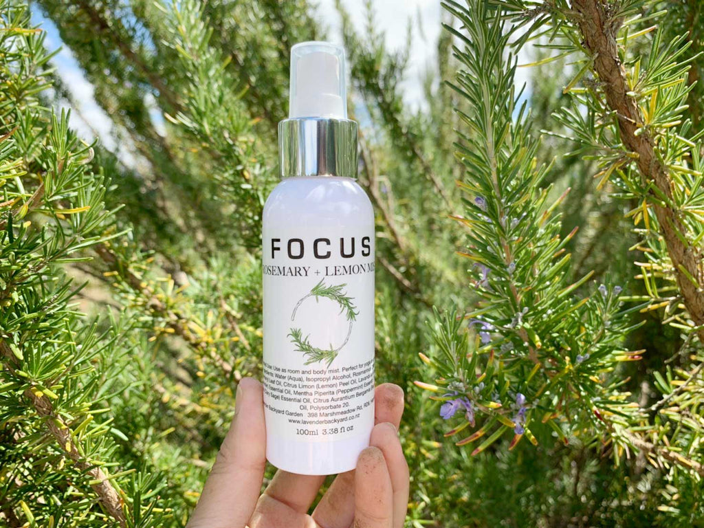 Focus Mist - Help Concentration, Lavender Rosemary Farm in NZ