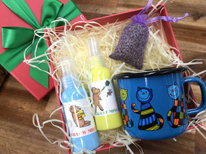 Very Cute Christmas Gift Box for Toddler, New Zealand Herb Farm, Lavender Backyard Garden