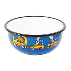 Camping Bowl, Camping, Outdoor, Enamelware, Enamel Mug, Coffee Mug, Kids Gift, Cute, Cat, Dog, Animal, Blue