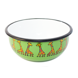 Open image in slideshow, Enamel Bowl- Giraffe