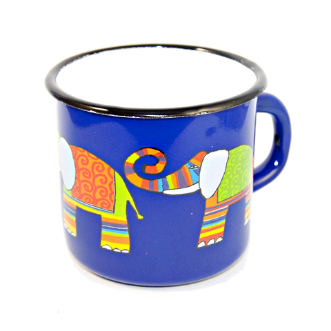Camping Bowl, Camping, Outdoor, Enamelware, Enamel Mug, Coffee Mug, Kids Gift, Cute, Animal, Elephant, Blue