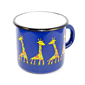 Open image in slideshow, Regular Enamel Mug - Giraffe