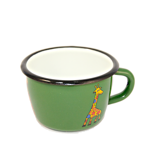 Camping Bowl, Camping, Outdoor, Enamelware, Enamel Mug, Coffee Mug, Kids Gift, Cute, Animal, Giraffe, Green