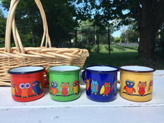 Toddler Enamel Mug - Owl