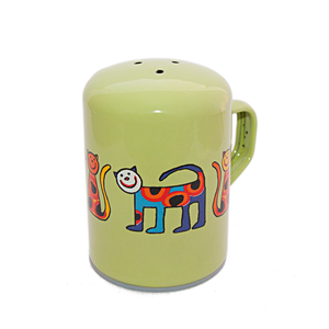 Enamel Salt Shaker - Spotted Cat