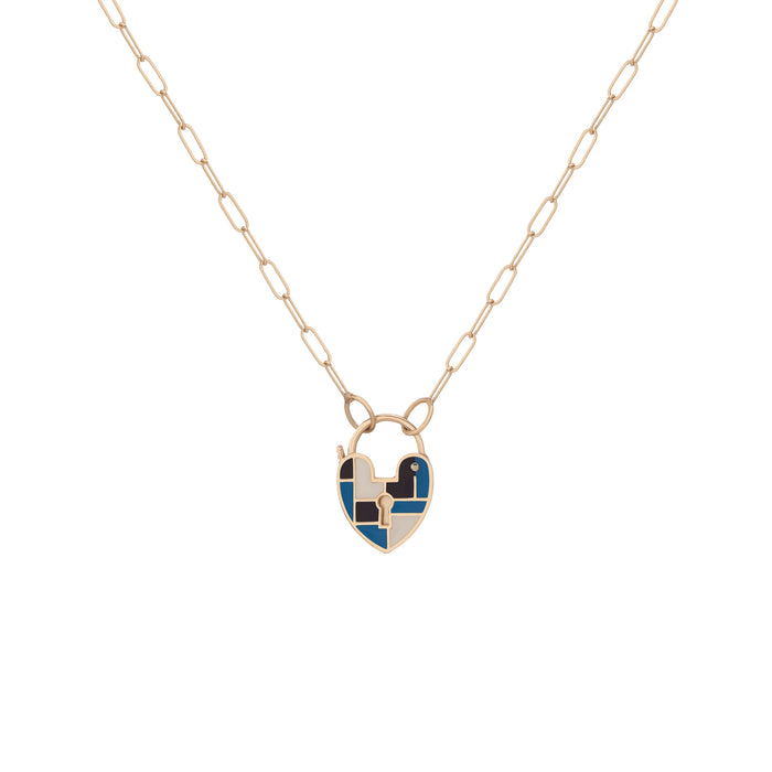 AZURE PALETTE HEARTLOCK NECKLACE