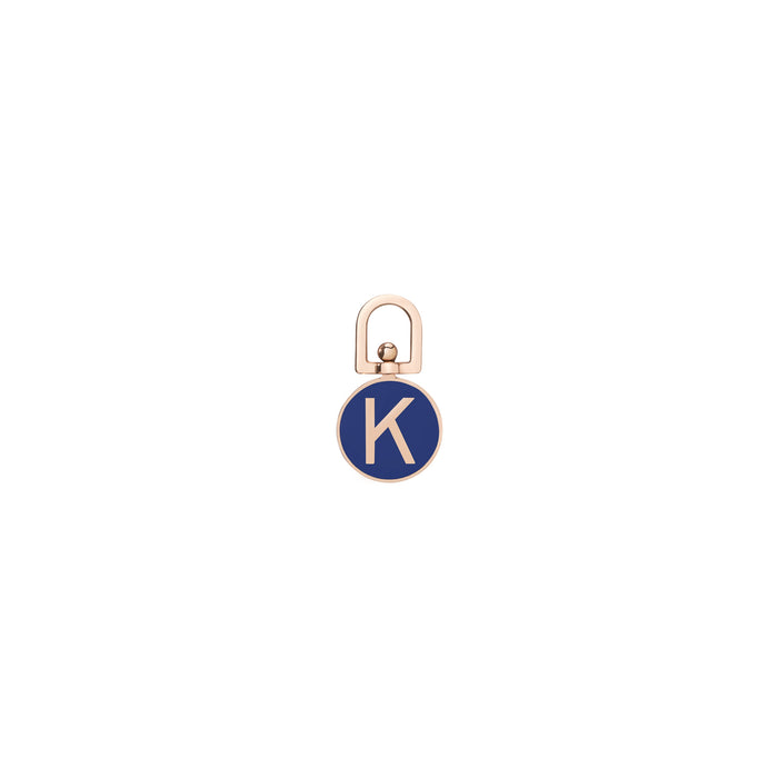 DOUBLE SIDED INITIAL ENAMEL CHARM