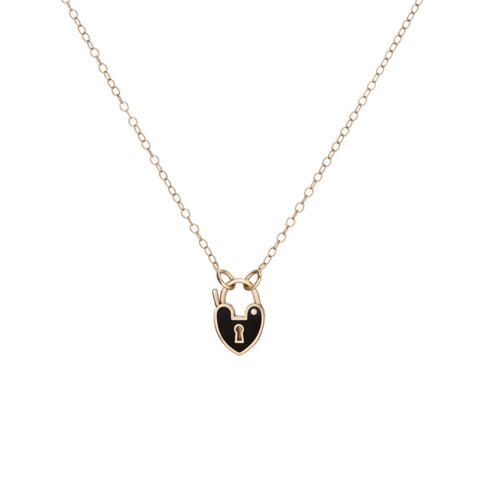 MINI BLACK HEARTLOCK PENDANT