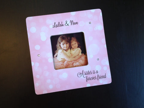 Personalized Best Friend/Sister Frame - 4x4