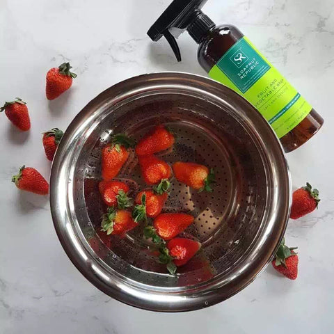 Wash Strawberries with Soapnut Republic Fruit & Vegetable Wash