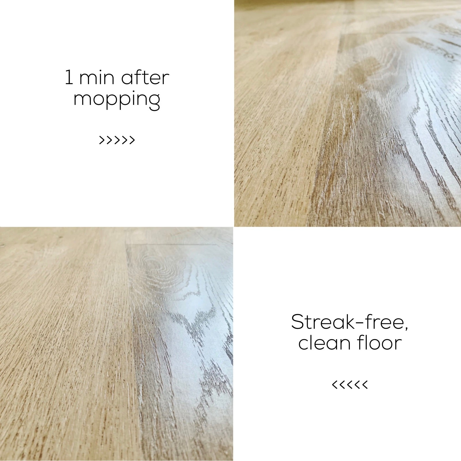 Air dry floor with Soapnut Republic Floor Cleaner