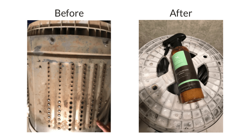 before after cleaning washing machine soapnut republic multi purpose spray