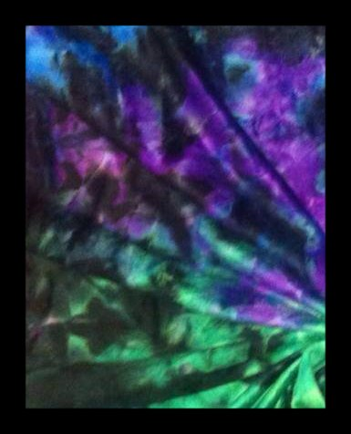 Purple/Black/Green tiedye minky *Workhorse* Nappy!
