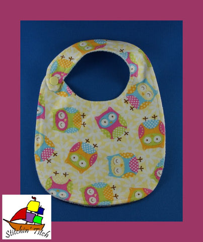 Tossed Owls Bib