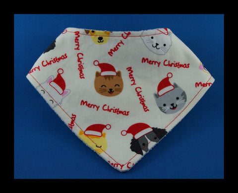 Christmas Puppies and Kittens Bandana Bib