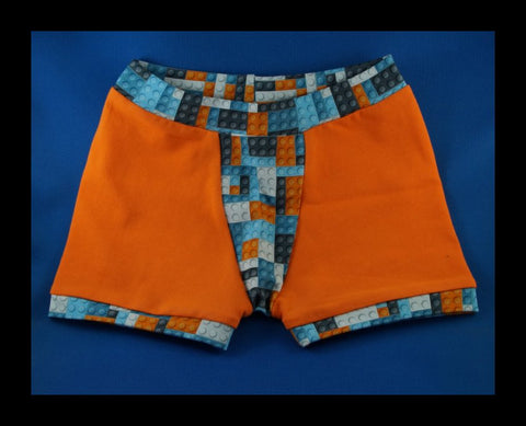 Blocks and Orange Boxers (size 3)